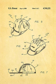 Ian Monk - Combined Baseball Glove Cap Patent Art 1988