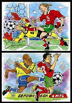 Vitaliy Shcherbak - Comics about EUROFOOTBALL. First page.