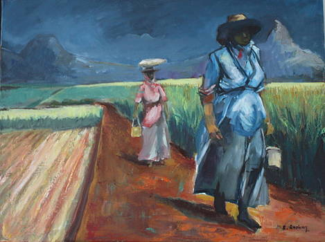 Coming back after a day's work by Brigitte Roshay