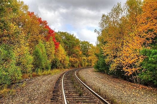 Coming 'Round the Bend in Autumn by Donna Doherty