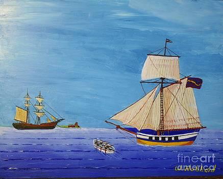 Commerce - So.Carolina Privateer  by Bill Hubbard