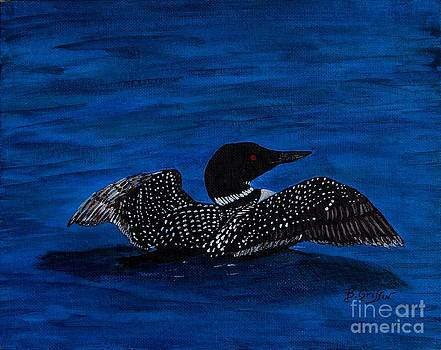 Barbara Griffin - Common Loon Preening