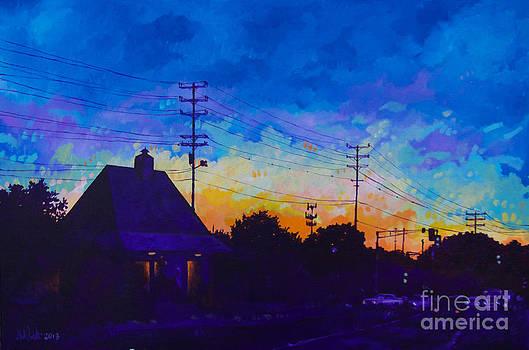 Commuter's Sunset by Michael Ciccotello