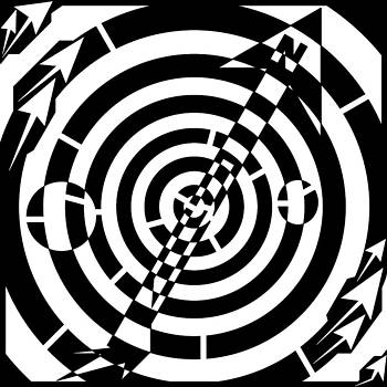 Compass Needle Maze  by Yonatan Frimer Maze Artist