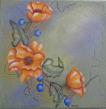 Complementay Flowers by Fran Haas