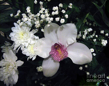 Composition With a Pink Orchid by Ausra Huntington nee Paulauskaite