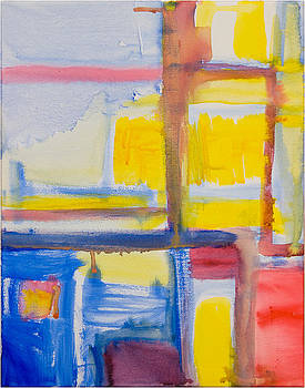 Composition with Red Blue Yellow by Mirza Ajanovic