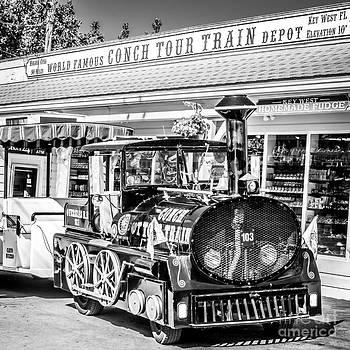 Ian Monk - Conch Tour Train 2 Key West - Square - Black and White