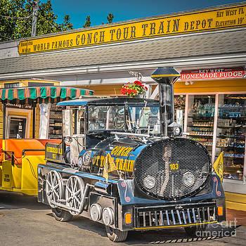 Ian Monk - Conch Tour Train 2 Key West - Square - HDR Style