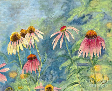 Cone Flowers in Sunlight by Patricia Huff
