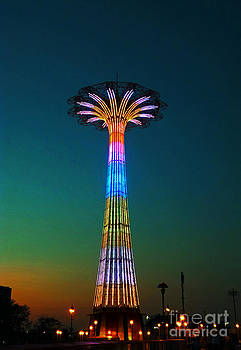 Coney Island Amusement Park And Parachute Jump by Kendall Eutemey