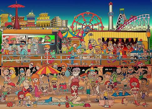 Coney Island Boardwalk by Paul Calabrese