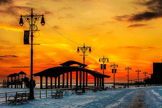 Coney Island Winter Sunset by Chris Lord