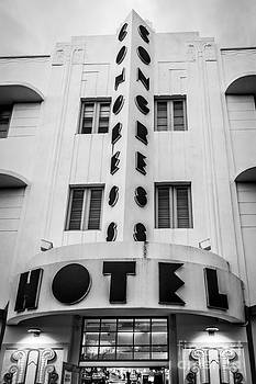Ian Monk - Congress Hotel 2 Art Deco District SOBE Miami Florida - Black and White