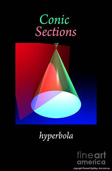 Conic Section Hyperbola Poster by Russell Kightley