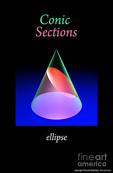 Conic Sections Ellipse Poster 6 by Russell Kightley