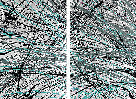 Connections diptych by Fred Koenig
