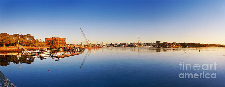 Jo Ann Snover - Construction equipment on the Piscataqua River