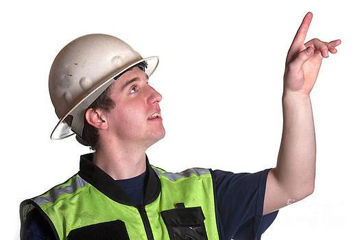 Gunter Nezhoda - Construction Worker in safety jacket