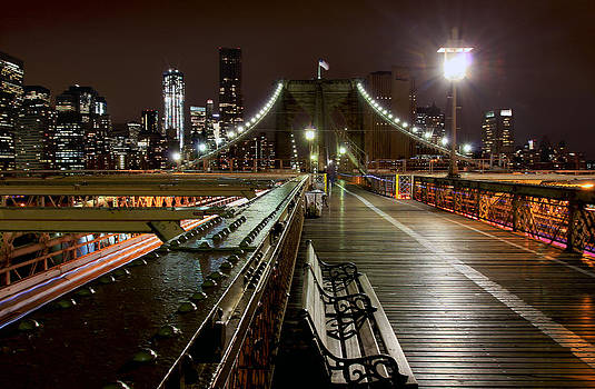 Contemplation on the Brooklyn Bridge by Dave Sribnik