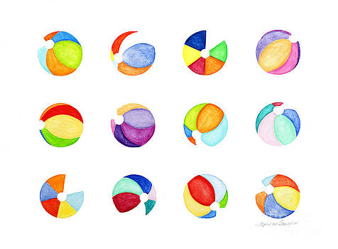 Contemporary Beach Balls by Stephanie Troxell