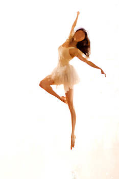 Contemporary Dancer Leaping by Philip Payne