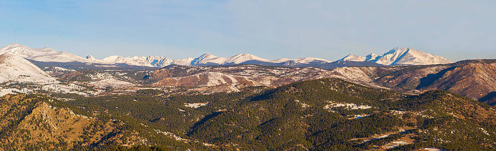 James BO  Insogna - Continental Divide Rocky Mountain Snowy Peaks Panorama