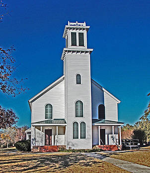 Contrast Country Church by Regina McLeroy