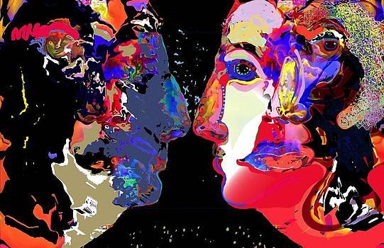 Conversation A Man and a Woman by Alan Stecker