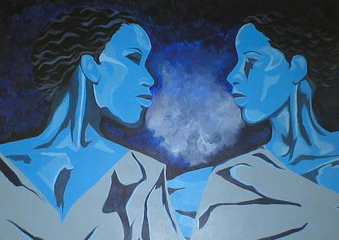 Conversation Blue by Lynn Darnelle