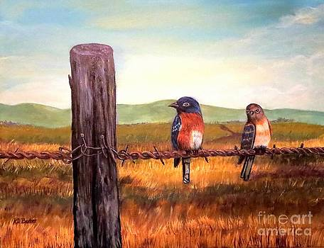 Conversation with a Fencepost by Kimberlee Baxter