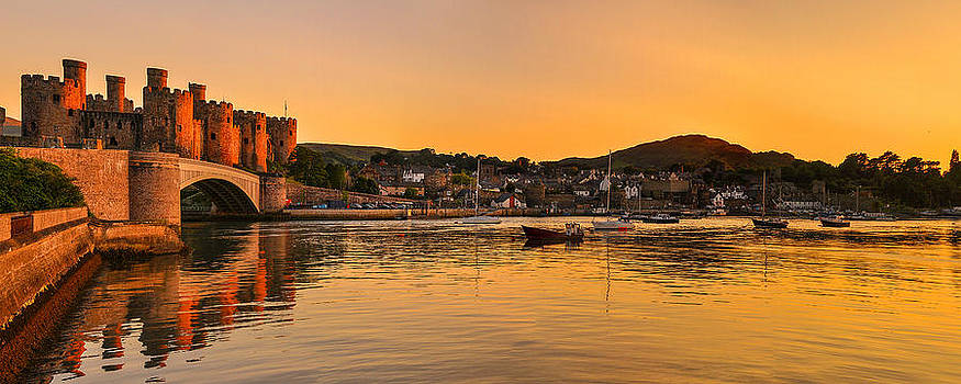 Conwy Castle Sunset by Regie Marshall