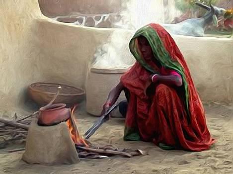 Cooking lady by Shreeharsha Kulkarni