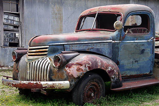 Cool Blue Chevy by Steven Bateson