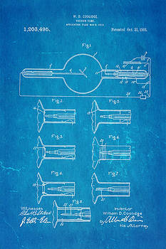 Ian Monk - Coolidge X-Ray Tube Patent Art 1913 Blueprint