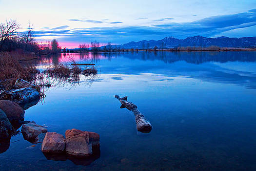 James BO  Insogna - Coot Lake Boulder Flatiron Early Morning View