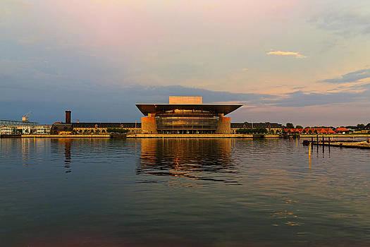 Copenhagen Opera in Summer Midnight Sun by Angela A Stanton