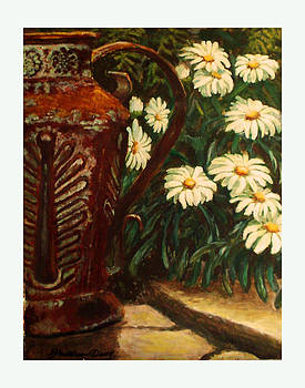 Copper and Daisies by Harriett Masterson