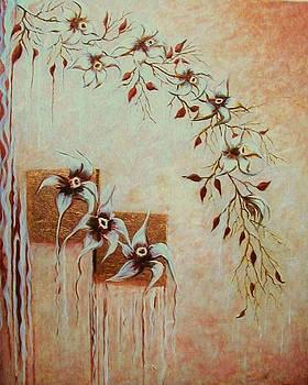 Copper Orchid Cascade by Diana Dearen