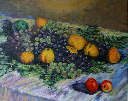 Copy of Monet's Still Life with Grapes and Pears by Dan Koon
