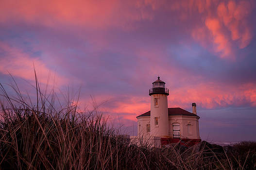 Coquille Lighthouse by Sally Halvorsen
