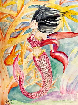 Coral Mermaid by Gina Hyde
