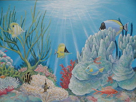 Coral Reef - Fish Tales by Bonnie Golden