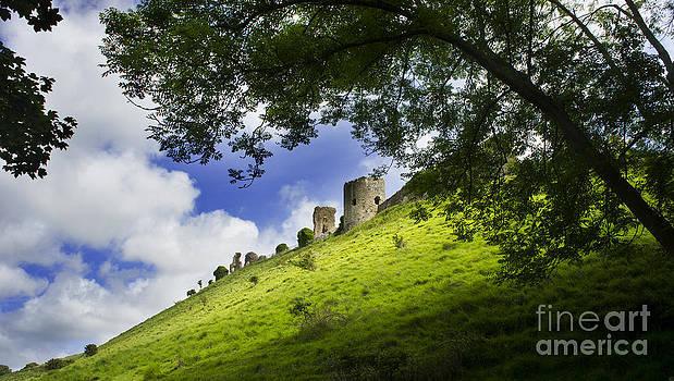 Corfe Castle in Dorset England - 2 by Sally Barnett