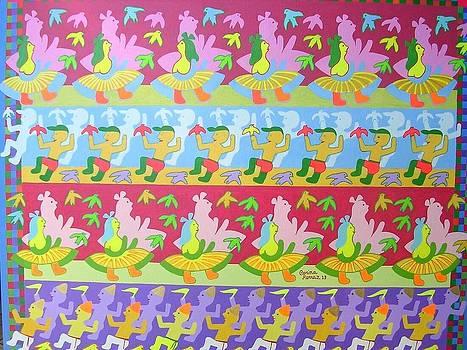 Corina Ferraz Tema Brincante Do Carnaval Medida 60x70  by Naifjunior Naifjunior