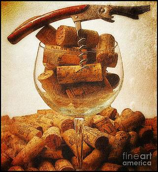 Corks and elegant corkscrew by Stefano Senise