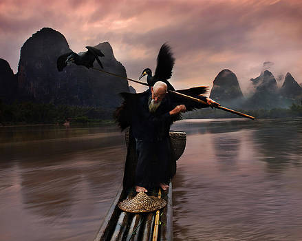 Cormorant show2 by Weerapong Chaipuck