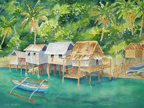 Coron Fishing Huts by Kathleen Rutten