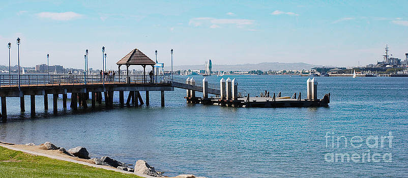 Coronado Pier Panorama by Claudia Ellis
