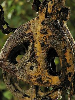Corroded Pulley by Elery Oxford